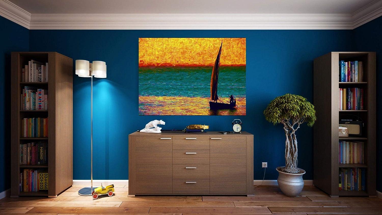 G | Cuadro Paisaje Impresionista | Fabricado en PVC Forex 5 MM | Medidas 100cm x 70cm | Fácil colocación | Diseño Elegante | Impresión Digital (1 Unidad)