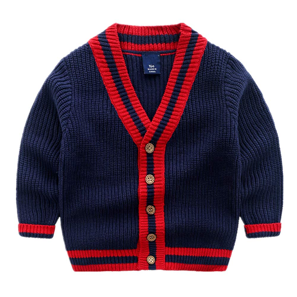 Beide Baby Boy Cardigan Classic Knitted Sweater Coat Spring Autumn Tops