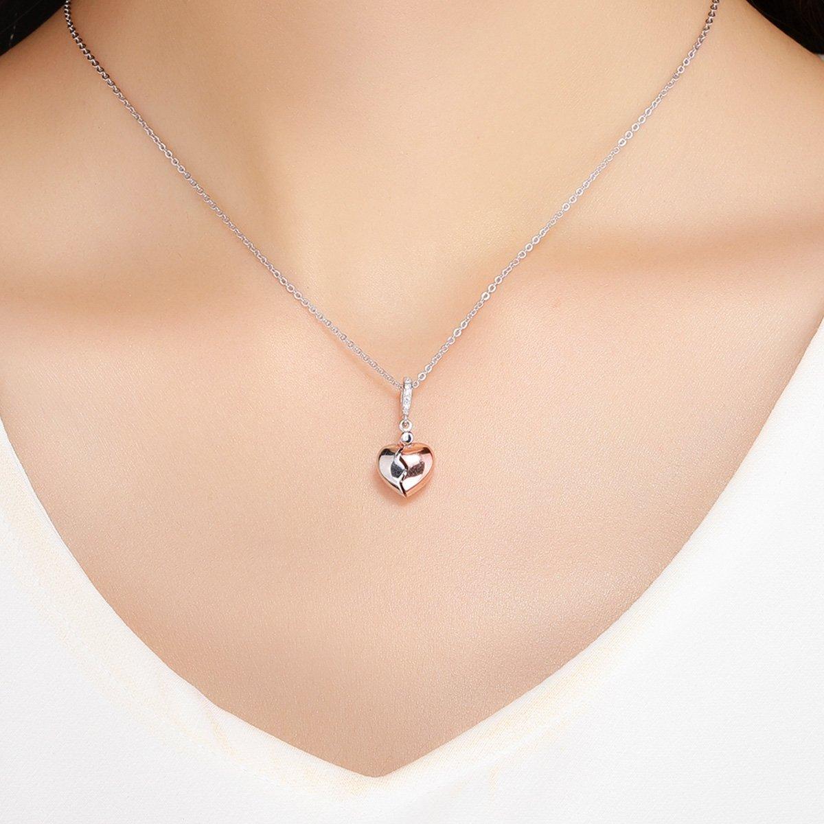 24f48c1dc05c Lily Jewelry La llave del corazón abre y cierra cuelga 925 plata ...