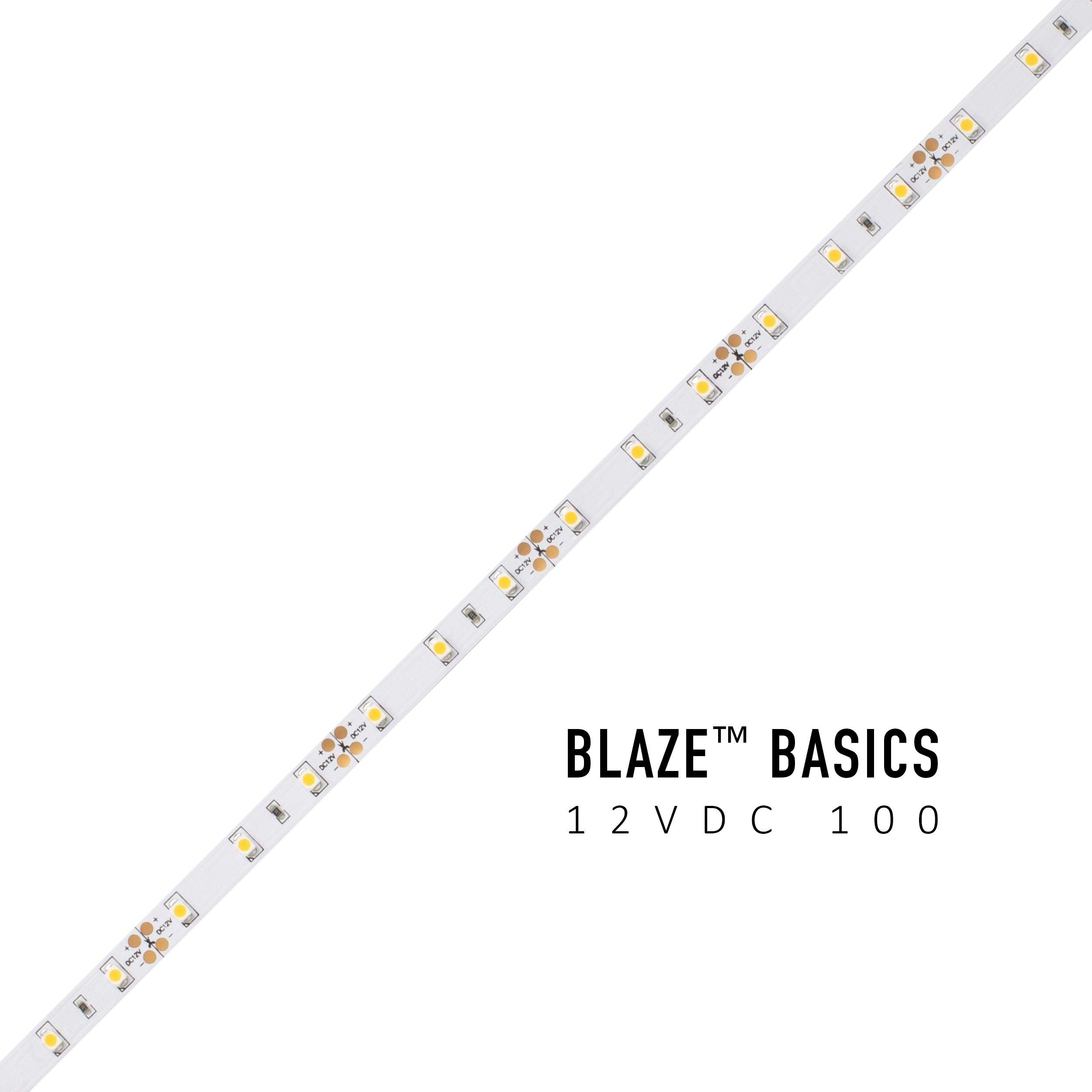 Diode LED Blaze Basics 100 LED Tape Light 12V 2700K 16.4ft Spool 1.46w/ft