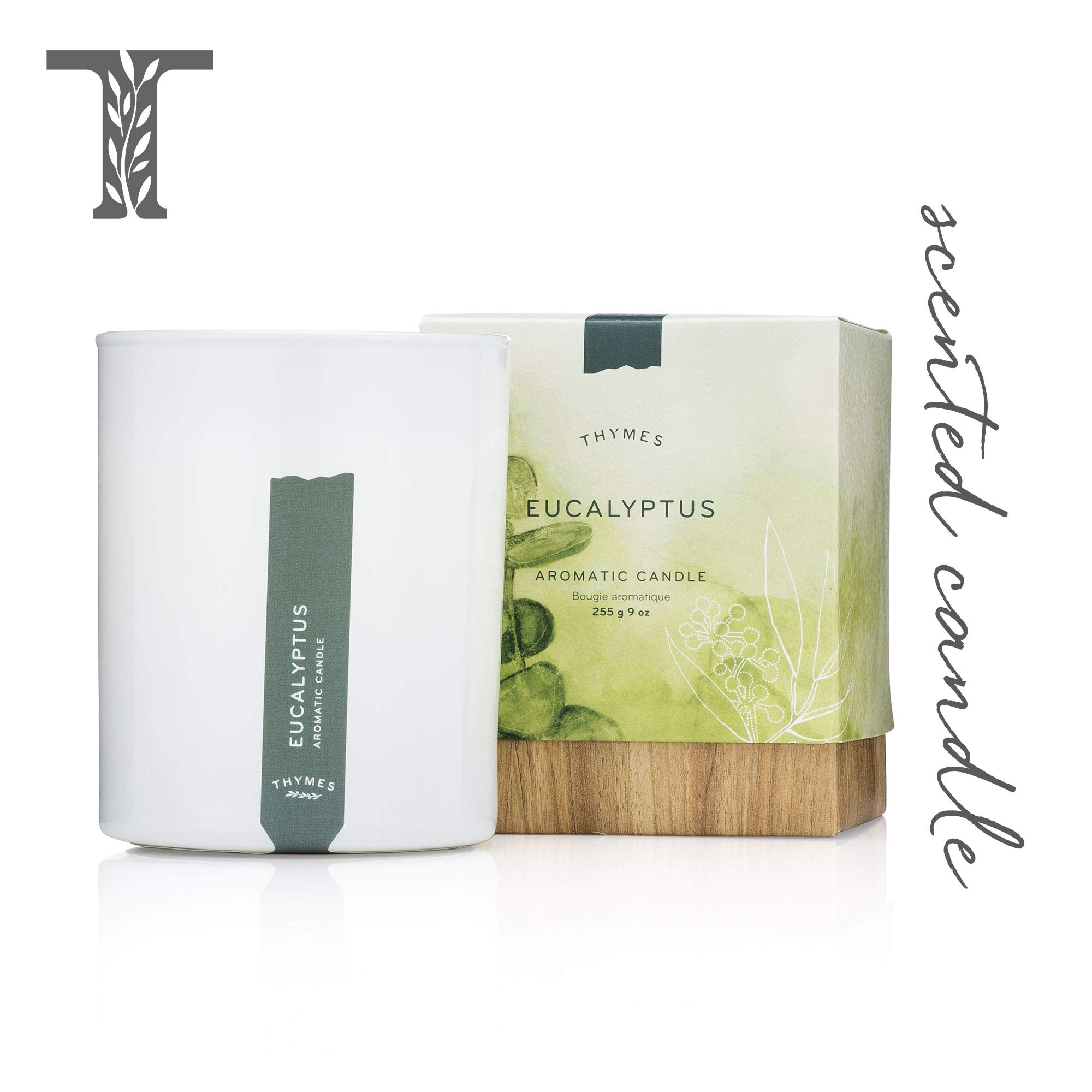 Thymes - Eucalyptus Aromatic Scented Candle - Long Lasting Scent with Gift Box - 9 oz by Thymes