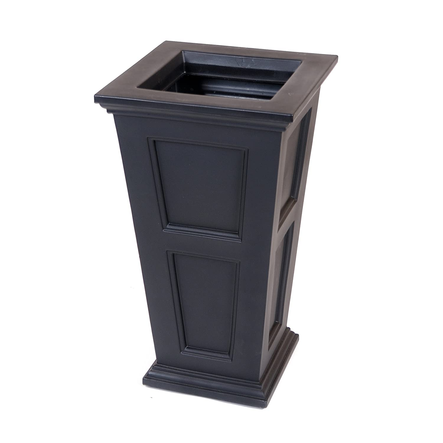 Amazon.com : Mayne Fairfield 5829B Tall Planter, 28 Inch By 16 Inch By  16 Inch, Black : Garden U0026 Outdoor