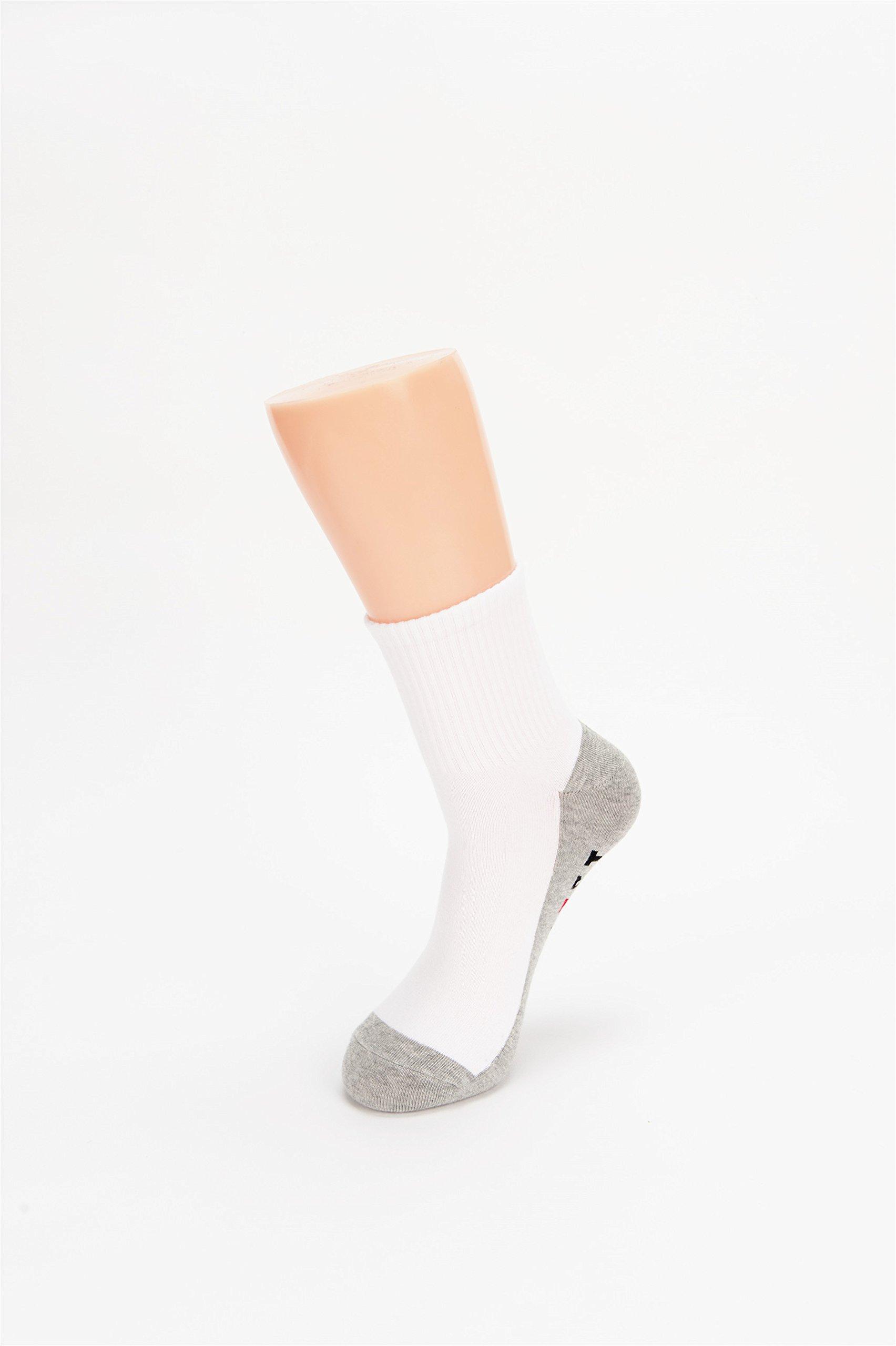 Hapyfost Men\'s 6 Pack All Season Quarter Crew Socks No Cushion, 10-13 (WHITE)