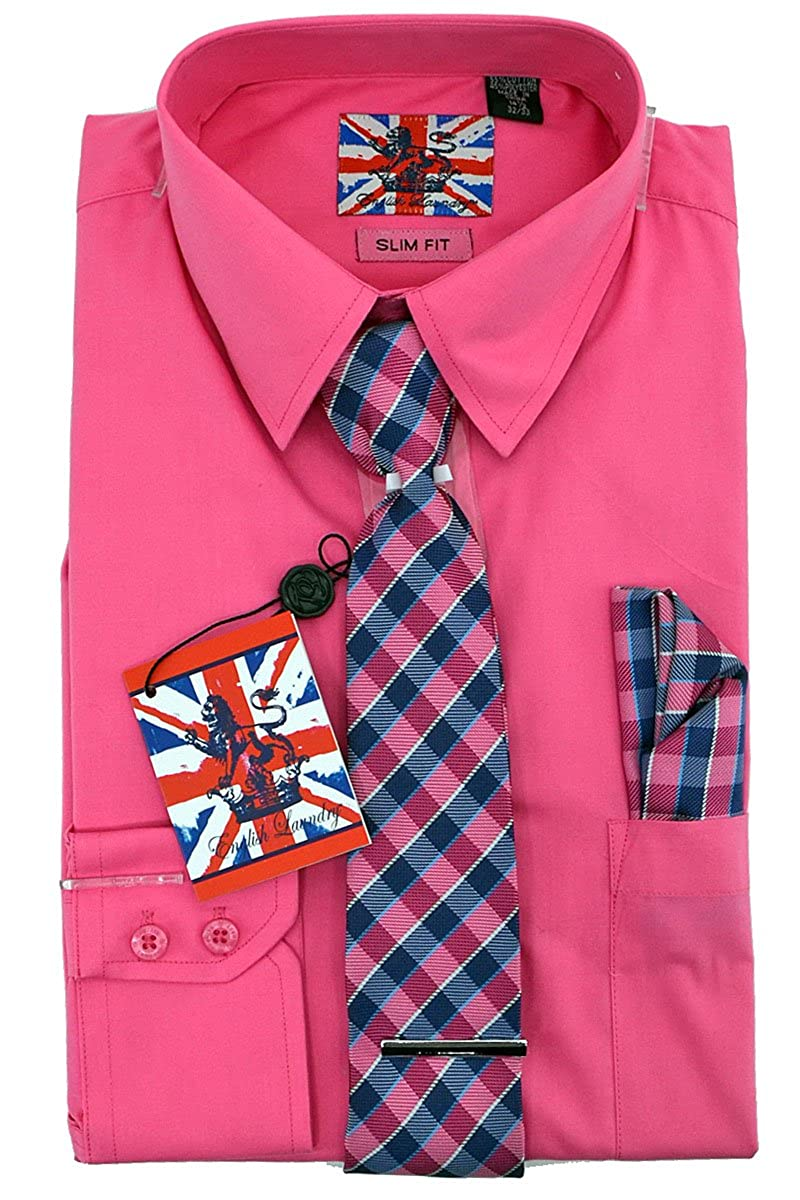 English Laundry Dress Shirt Tie Pocket Square Combo Slim Fit At