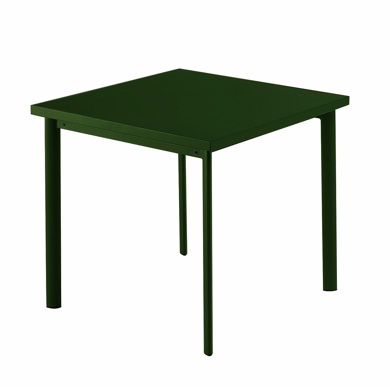 Emu 303058400 Star Tisch 305, 70 x 70 cm, pulverbeschichteter Stahl, dunkelgrün