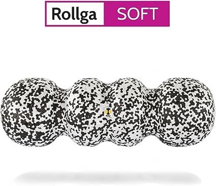45cm schwarz-weiß patentierte 4-Zonen-Formung Rollga Faszienrolle SOFT