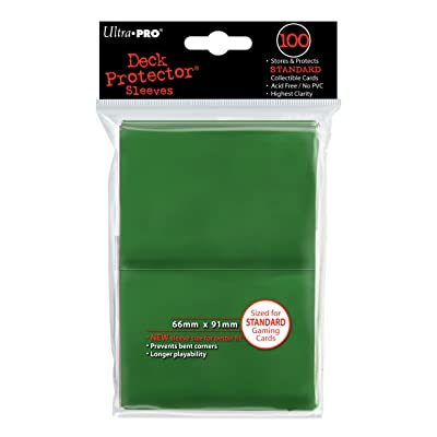 Ultra-Pro Sleeves: New Standard Green Deck Protectors (100): Toys & Games
