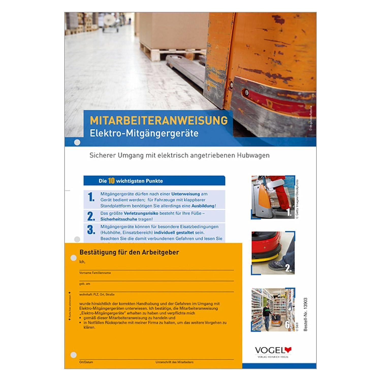 10er Pack Mitarbeiteranweisungen Elektro-Mitgängergeräte Hubwagen ...