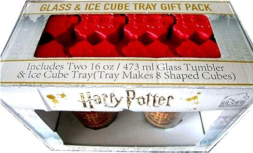 Harry Potter Vasos de pinta y bandeja para cubitos de hielo ...