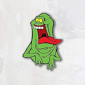 Ghostbusters Cartoon Funny Slimer Vinyl Sticker Art Decal 10'' x 14''