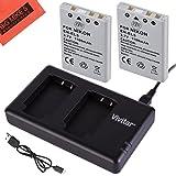 BM Premium 2-Pack of EN-EL5 Batteries and USB Dual Battery Charger for Nikon Coolpix P80, P90, P100, P500, P510, P520, P530 Digital Camera (Tamaño: 2 Batteries + USB Dual Charger)