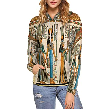 0bf31da5c7d6cd Amazon.com  InterestPrint Women s Hoodies Tribal Ethnic Pattern Long Sleeve  Pocket (XS-XL)  Clothing
