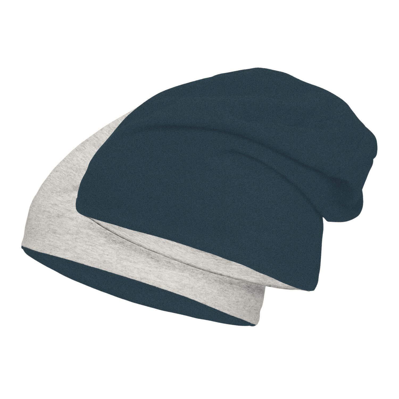 Damen Mädchen XXL Long Mütze Jersey Slouch Beanie mit Sterne Aufdruck 5 Farben