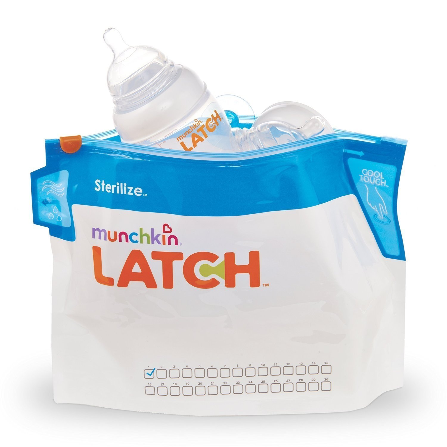Munchkin Latch Microwave Sterilize Bags, 180 Uses, 6 Pack 011741