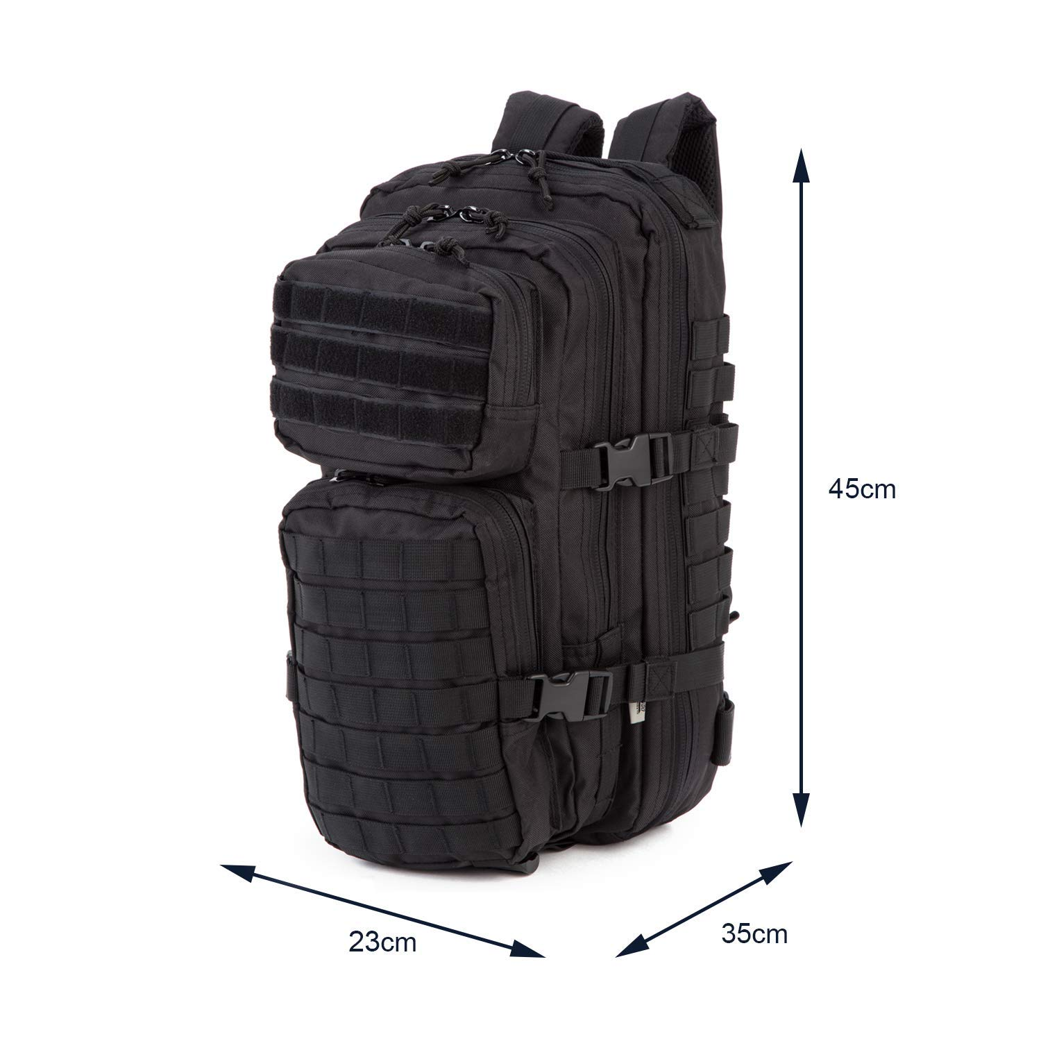 Amazon.com : Commando-Industries US Army Assault Pack I Backpack Combat Backpack Back 30 Litre Liter (Black) : Sports & Outdoors