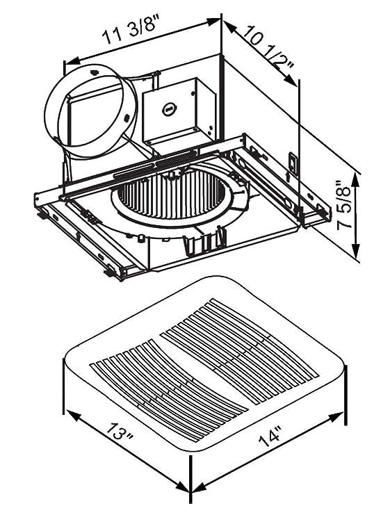 Kaze Appliance Sep120 Ultra Quiet 120 Cfm 0 3 Sones Bathroom