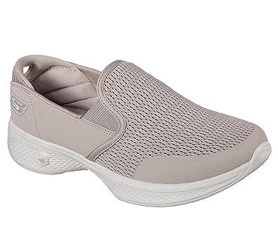 1bf0eca37b Skechers Go Walk 4 attuned Womens Slip On Walking Sneakers Taupe 5.5