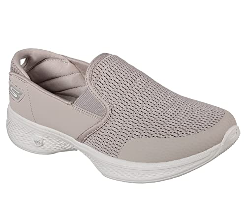 5496d12ea48 Skechers Go Walk 4 Attuned Womens Slip On Walking Sneakers Taupe 13  Amazon. co.uk  Shoes   Bags