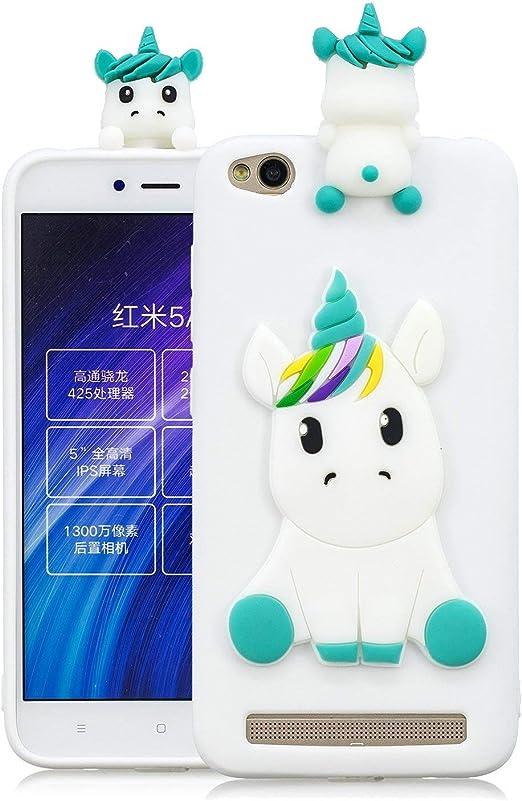 Huiran Funda para Xiaomi Redmi 5A Silicona Motivo 3D Divertidas ...