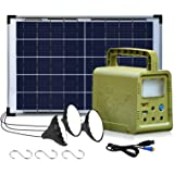 ECO-WORTHY 84Wh Portable Power Station, Solar Generator with 18W Solar Panel, Flashlights, Camp Lamps with Battery, USB DC Ou