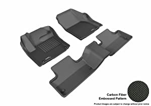 3D MAXpider L1LR01801509 Complete Set Custom Fit All-Weather Floor Mat for Select Land Rover Range Rover Evoque Models - Kagu Rubber (Black)