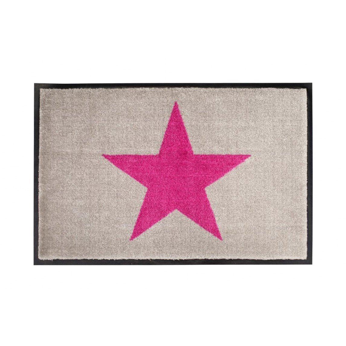 Gift Company - waschbare Fußmatte Fußmatte Fußmatte - Stern, Star - Grau - 75 x 50 cm B01AAFUY82 Fumatten f89d0a
