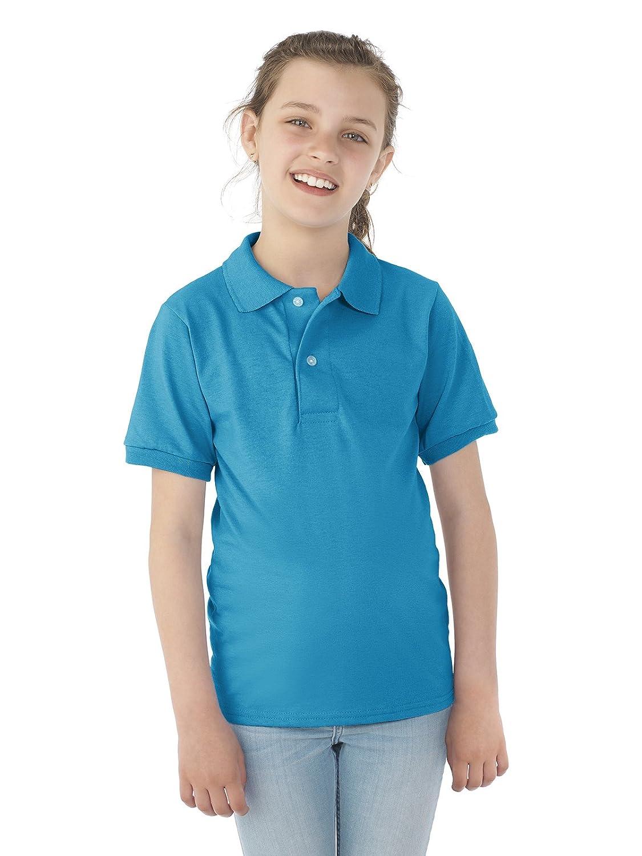 SpotShield/Ö Jersey Polo-White Youth 5.6 oz
