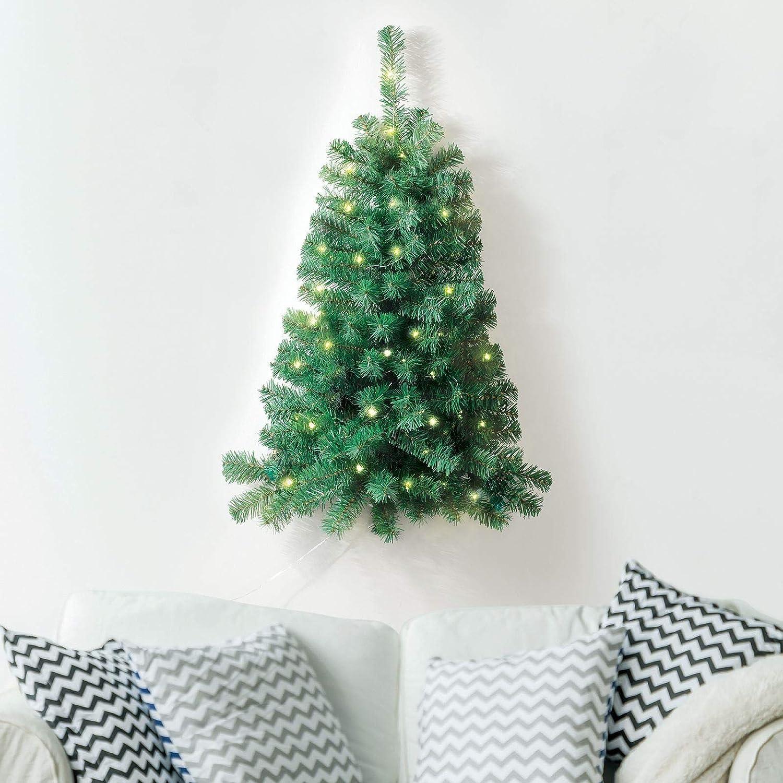 Prextex /Árbol de Navidad Abeto Canadiense Artificial Ligero de 120cm //F/ácil de Ensamblar con Bisagras y Soporte para /Árbol de Navidad