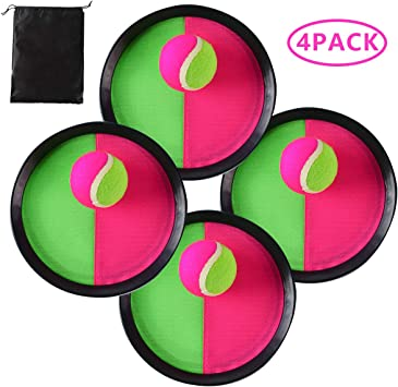 Locisne Toss y Catch Paddle Game Set,Disco de paletas y Juego de ...