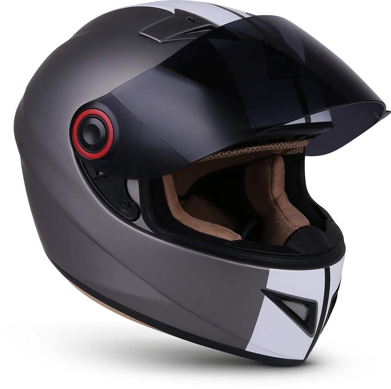 SOXON ST-666 Deluxe White Black /· Cruiser Sport Urbano Urban Casco Integrale Fullface-Helmet Scooter Moto motocicleta /· ECE certificado /· incluyendo parasol /· incluyendo bolsa de casco /· Blanco /· XL 61-62cm
