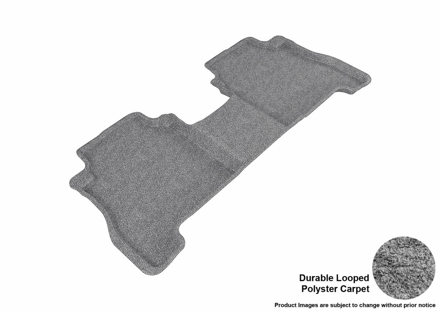 3D MAXpider Front Row Custom Fit Floor Mat for Select Hyundai Santa Fe Models Classic Carpet Gray