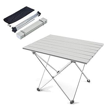 ANPI Mesa de camping plegable al aire libre de aluminio, Mesa de ...