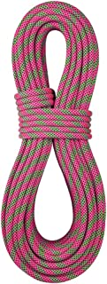 product image for BlueWater Ropes 9.7mm Lightning Pro Double Dry Dynamic Single Rope (Pink/Green, 60M)