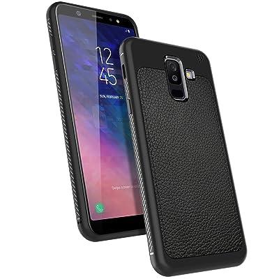 LK Funda Galaxy A6 Plus 2018/J8 2018, carcasa [Shock-Absorción] [Anti-Arañazos] Slim Silicona TPU Goma Suave Bumper Case Cover Ultra para Samsung Galaxy A6 Plus 2018/J8 2018 - Negro