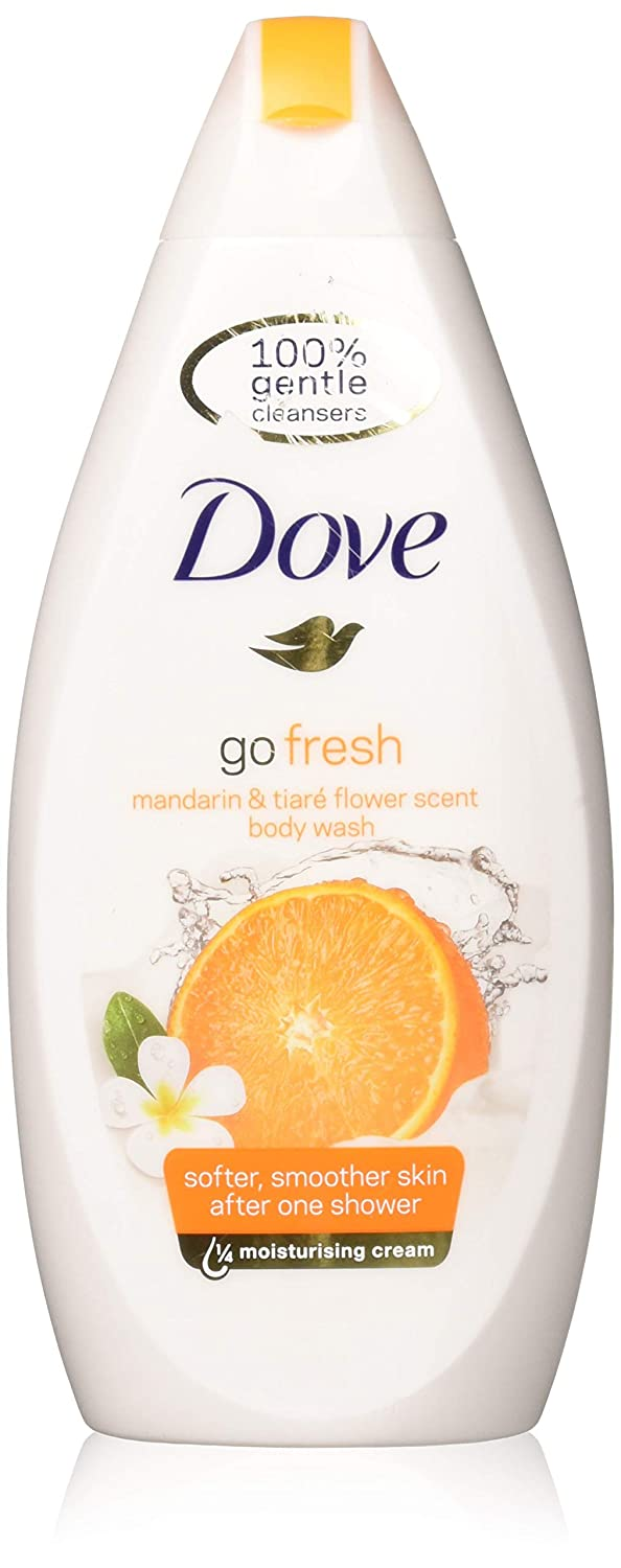Dove Go Fresh Body Wash, Revitalize, Mandarin & Tiare Flower Scent, 16.9 Ounce /500 Ml (Pack of 3)