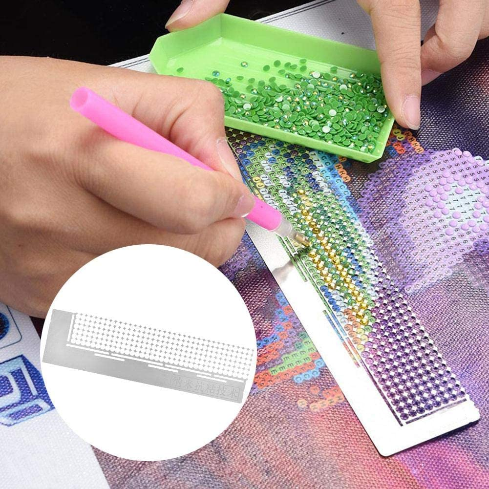 Antilog Embroidery Painting Ruler DIY Embroidery Painting Ruler Diamond Painting Ruler Dot Drill Accessory Tool