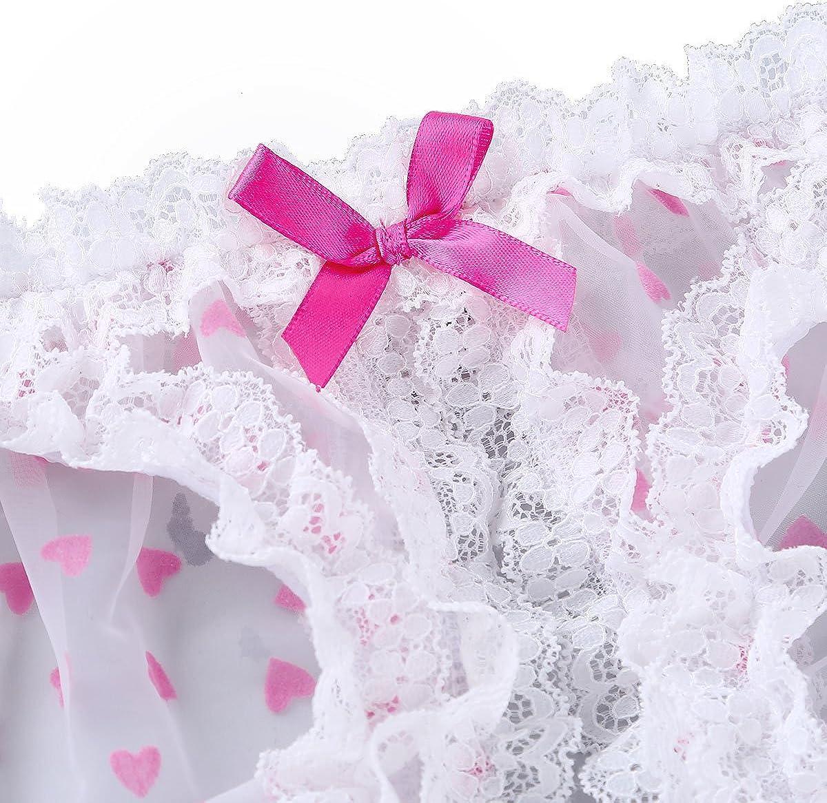 iixpin Sissy Ouvert-Panty Herren Pink Herz Transparent String Slip Bikini Erotik Dessous Bikini G-String Tanga Unterw/äsche Partykleidung Clubwear