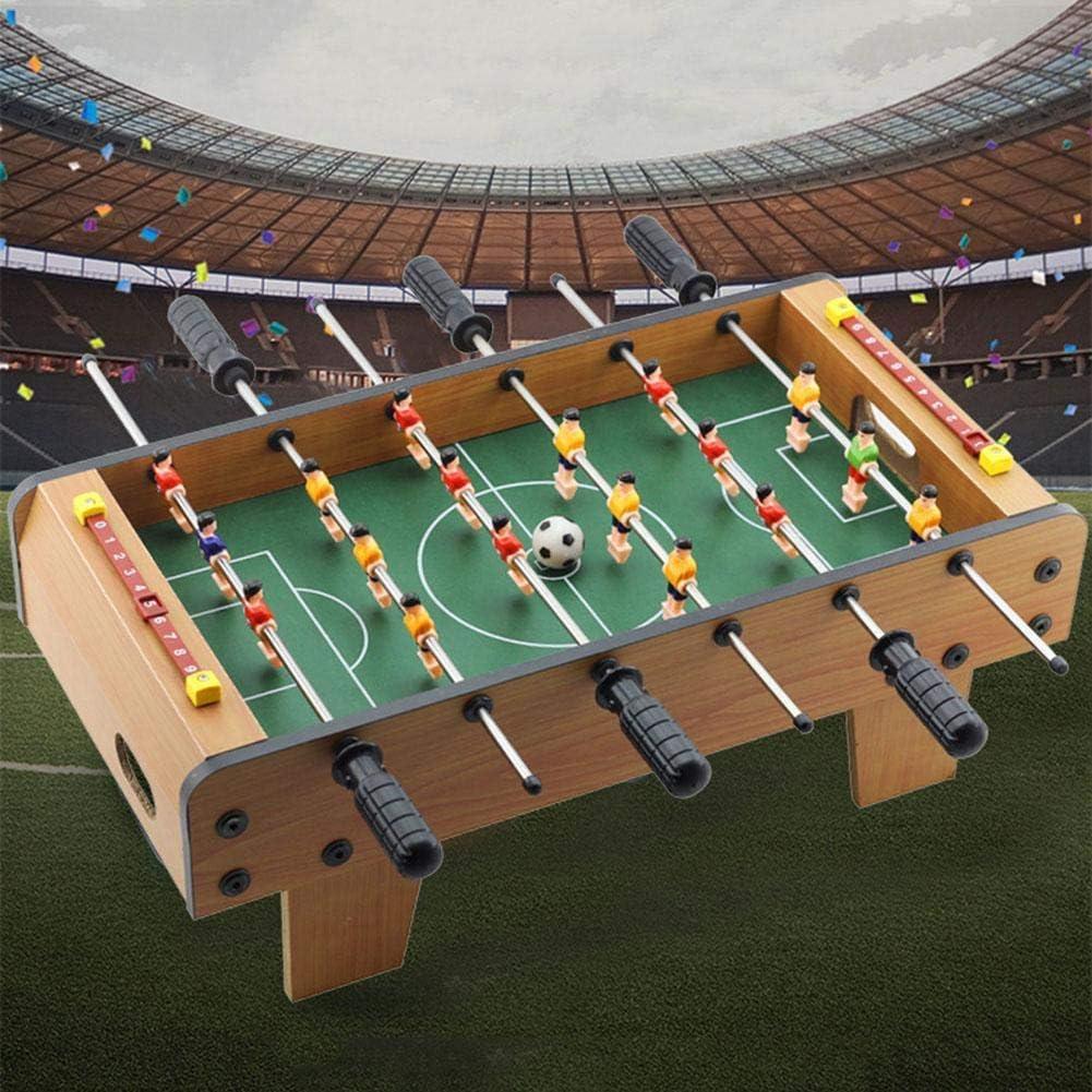 shengshiyujia Mini Mesa de Madera de futbolín, Juego de fútbol ...