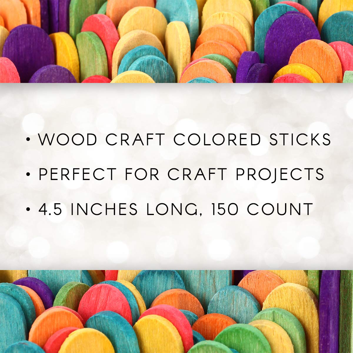 "Perfect for Craft Projects Sturdy Wood Sticks Used for Kids Projects 4 1//2/"" long 120 per pack Multi-Colored Home and More Darice Wood Craft Sticks Classrooms Vibrant Fun Colors"