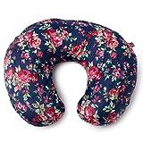 Minky Nursing Pillow Cover   Navy Floral Pattern