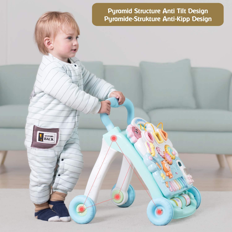 HOMFA Bebé Andadore 2 en 1 andadores de bebe con Música y LED ...