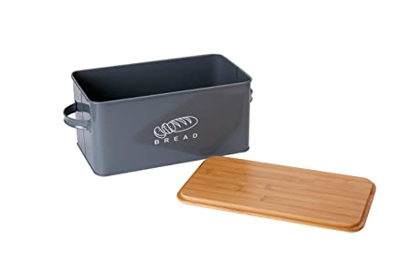 GA Homefavor Panera Contenedor de Cocina para el Pan con Tapa de bambú, 37 * 19 * 17 cm: Amazon.es: Hogar