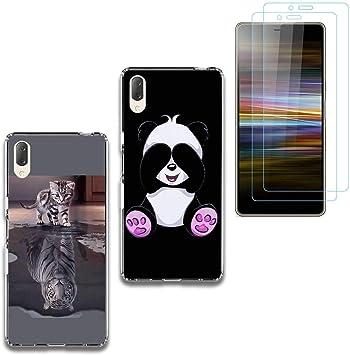 jrester 2 X Funda Sony Xperia L3,Gato Tigre + Panda Suavee ...