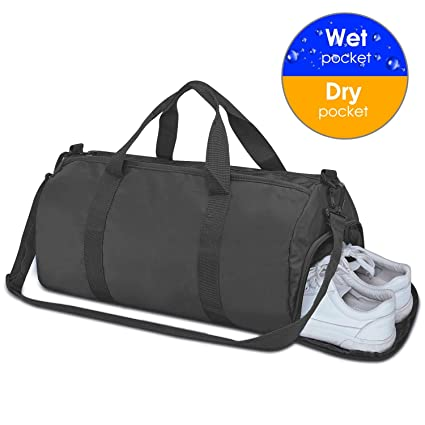 6b762f4f4908 Totech Small Sports Gym Bag with Wet Pocket & Shoes Compartment for Women  and Men 25L