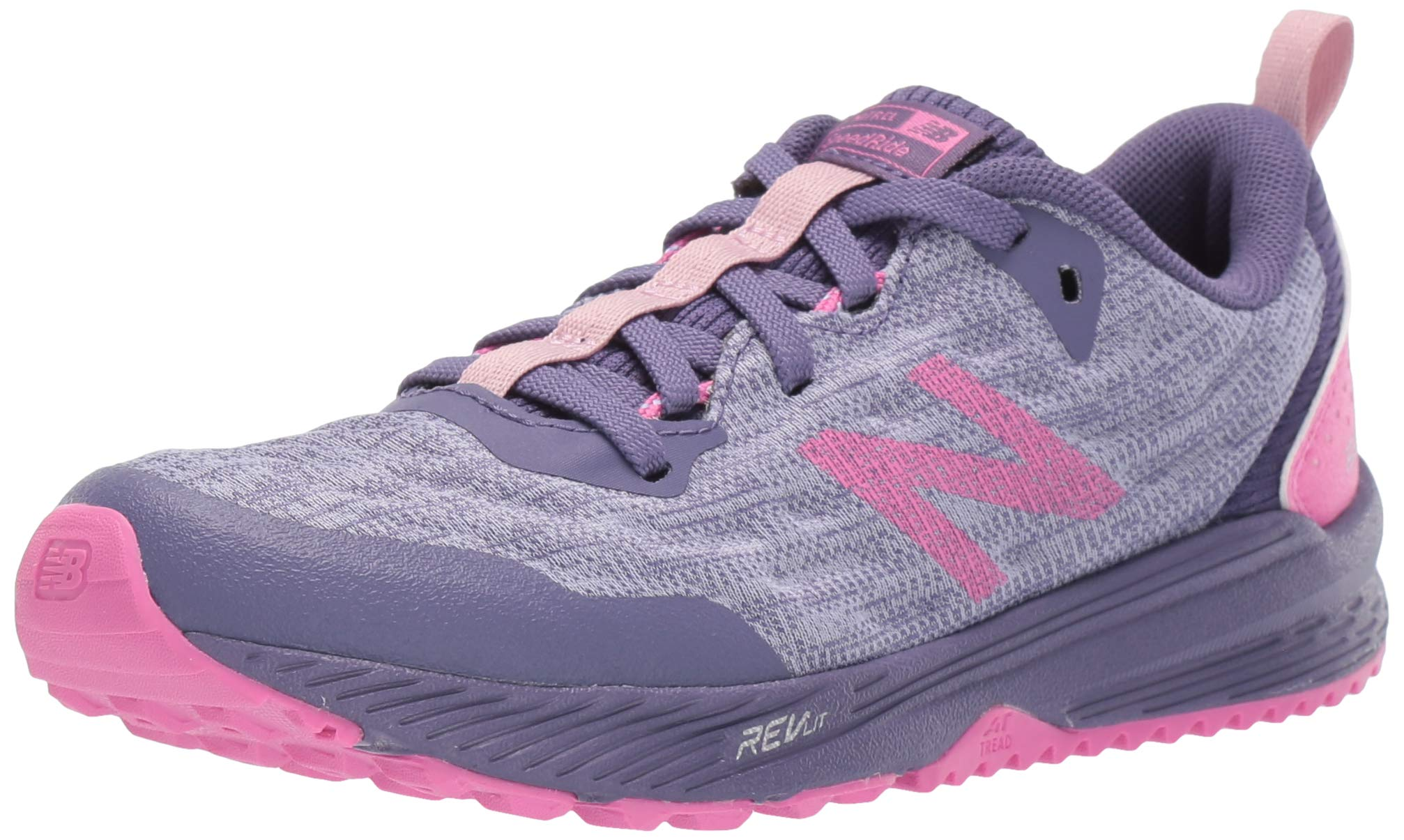 New Balance Girls' Nitrel V5 Running Shoe, Clear Amethyst/Violet Fluorite, 6.5 M US Big Kid