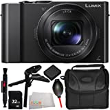 Panasonic Lumix DMC-LX10 Digital Camera 9PC Kit - Includes 32GB SD Memory Card + Replacement Battery + Carrying Case + Pistol Stabilizer + MORE - International Version (No Warranty)