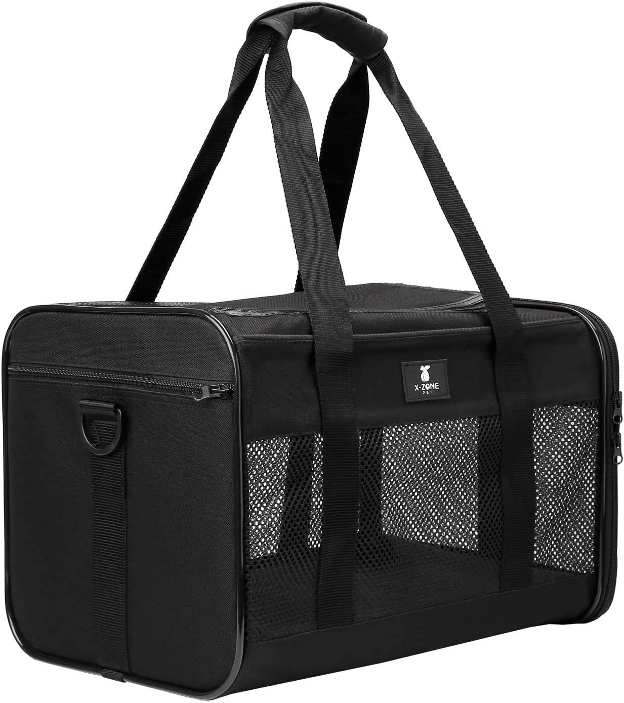 X-ZONE PET Airline Approved Soft-Sided Pet Travel Carrier for Dogs and Cats, Medium Cats Small Cats Carrier, Dog Carrier for Small Dogs, Portable Pet Travel Carrier, Black : Pet Supplies