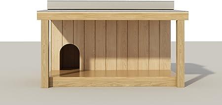 DIY Plans Caseta de Perro de Madera para Exteriores, con Porche Cubierto: Amazon.es: Productos para mascotas