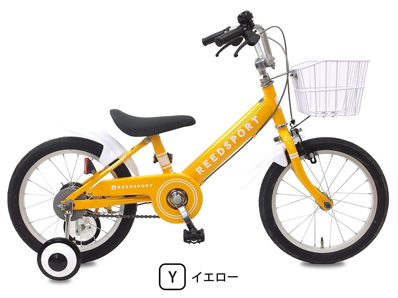 【組立済み】 リーズポート(REEDSPORT) 補助輪付き 子供用自転車 幼児自転車 B01M5IV3XY 18インチ|イエロー イエロー 18インチ