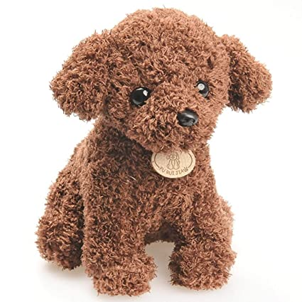 JEWH Cute Puppy Dolls - Curly Teddy Dogs - Stuffed Pet Soft Toys for Kids Children